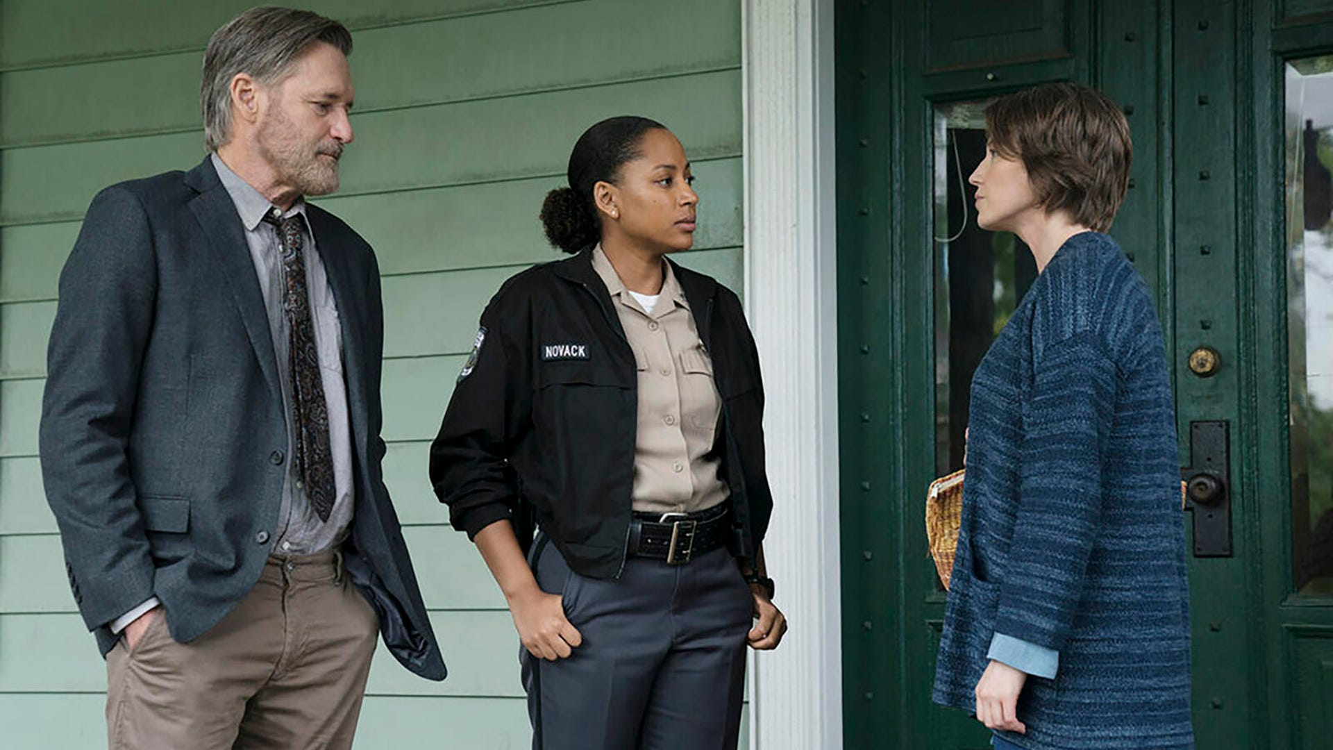 Bill Pullman, Natalie Paul, and Carrie Coon, The Sinner