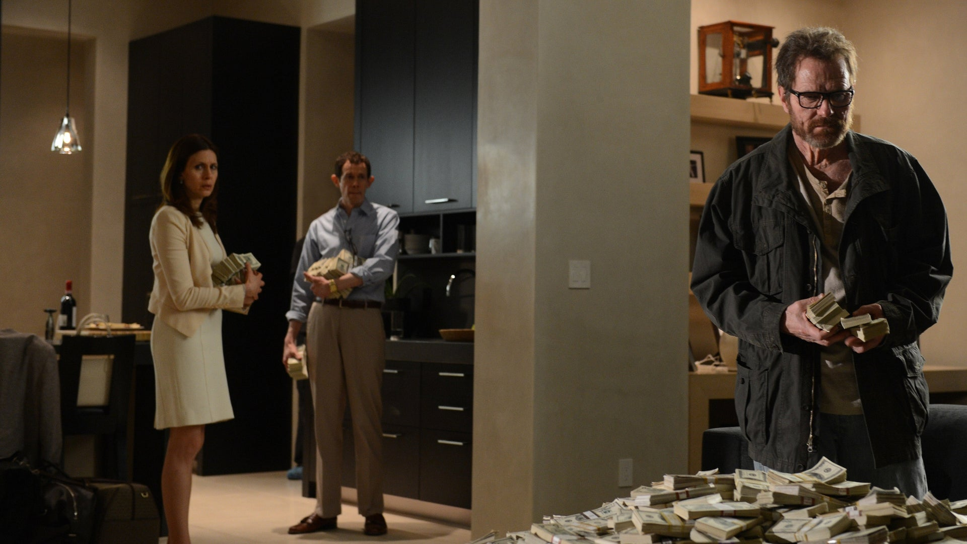 Jessica Hecht, Adam Godley, and Bryan Cranston, Breaking Bad