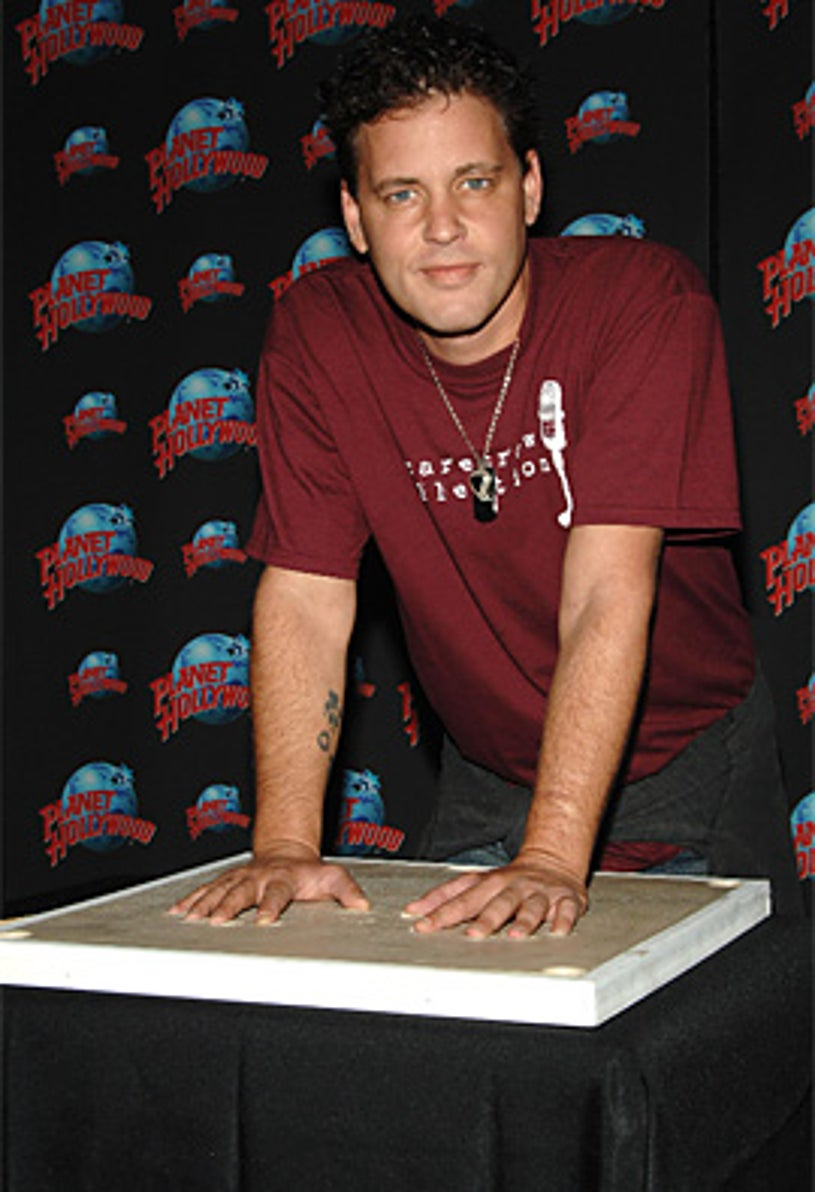 Corey Haim - handprint ceremony at Planet Hollywood Times Square , New York City, August 15, 2007