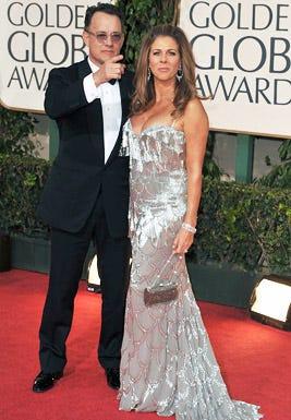 Tom Hanks and Rita Wilson - The 66th Annual Golden Globe Awards, January 11, 2009