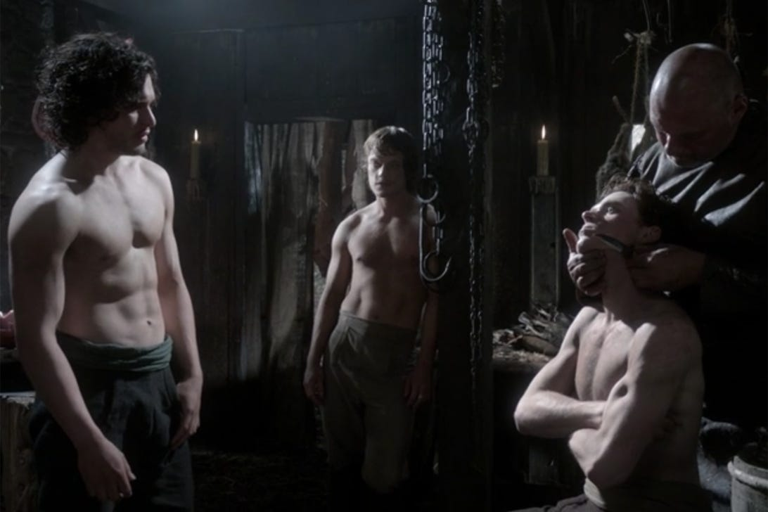 Kit Harington, Alfie Allen, and Richard Madden; Game of Thrones