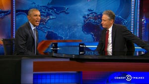 VIDEO: President Obama Issues an Executive Order for Jon Stewart to Stay on The Daily Show