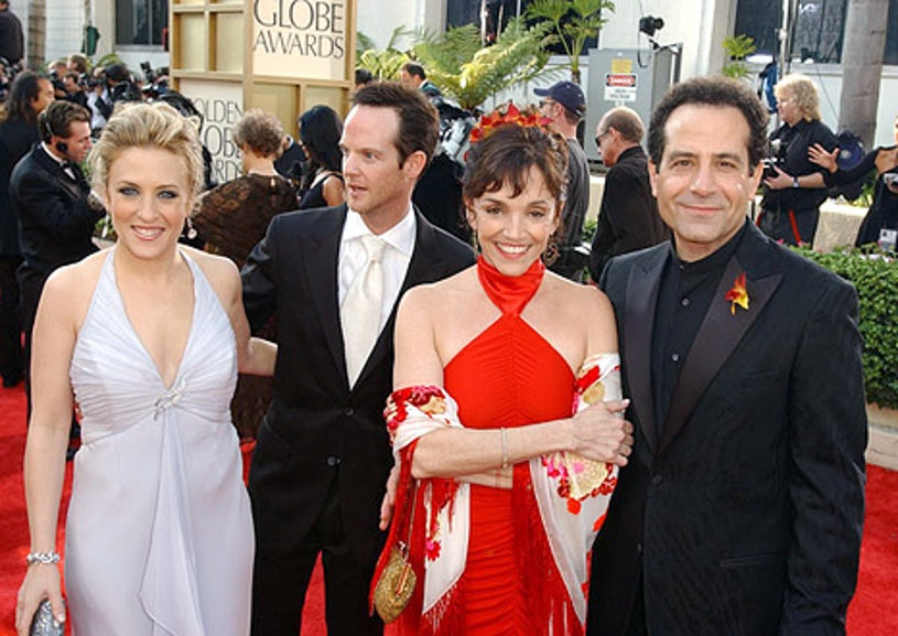 Bitty Schram with guest, Brooke Adams and Tony Shalhoub - 61st Annual Golden Globe Awards