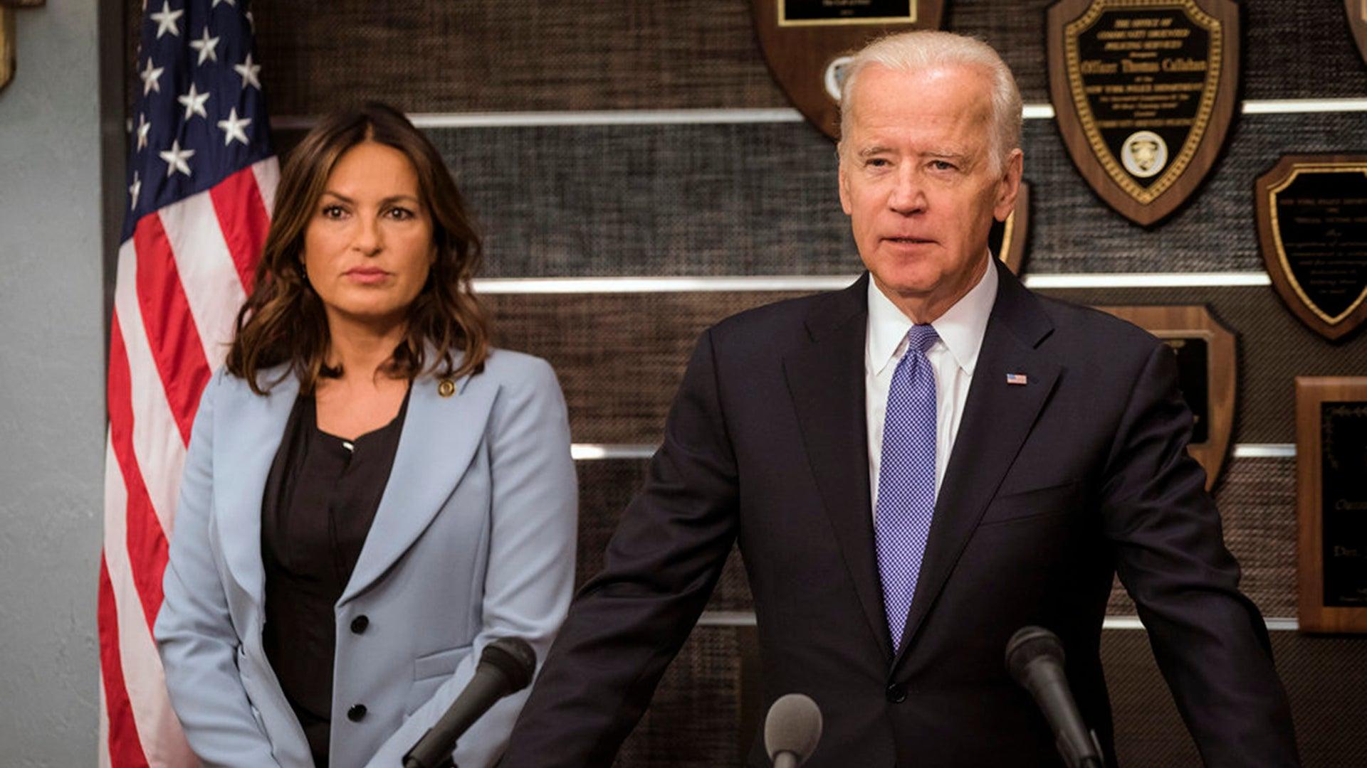 Mariska Hargitay and Vice President Joe Biden, Law & Order: SVU