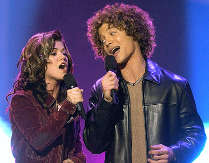 """Kelly Clarkson & Justin Guarini - """"American Idol: The Search for a Superstar"""" finale results show, September 4, 2002"""