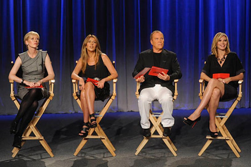 Project Runway - Season 7 - Episode 5: Run for Cover - Marie Claire Editor-in-Chief Joanna Coles joins the judges panel with Nina Garcia, Michael Kors and Heidi Klum