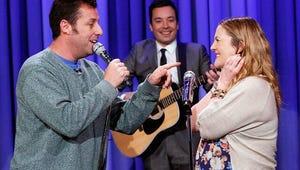 VIDEO: Adam Sandler Serenades Drew Barrymore on Tonight Show