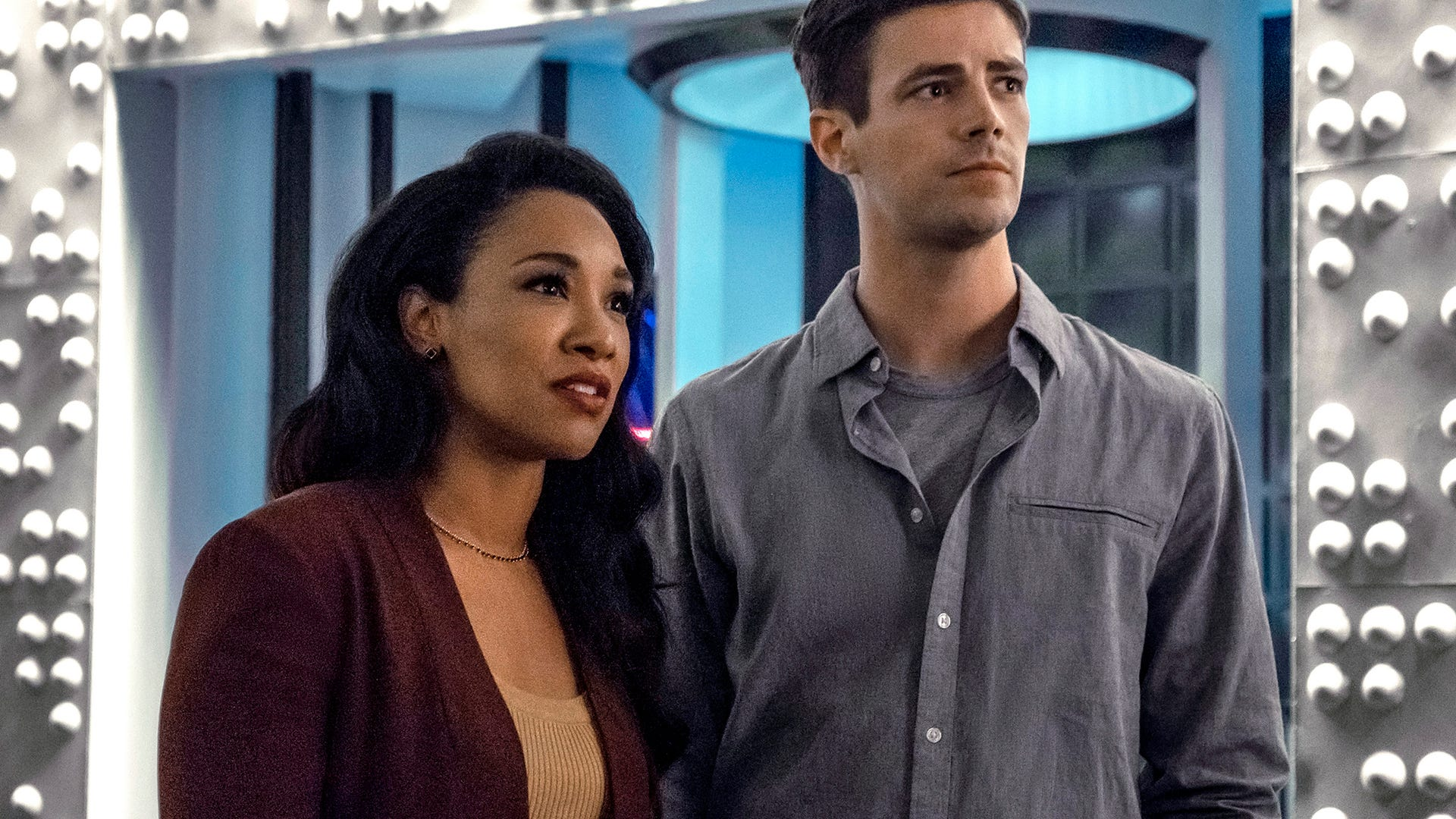 Candice Patton and Grant Gustin, The Flash