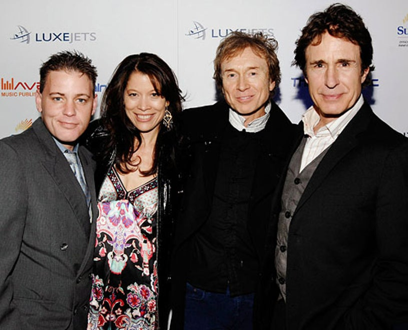 Corey Haim, Genitrix Georges, G. Tom Mac and John Shea -  Primary Wave Music Publishing pre-Grammy party at SLS Hotel, Los Angeles, February 7, 2009