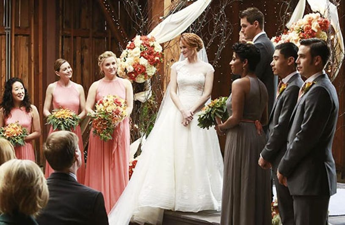 "Grey's Anatomy - Season 10 - ""Get Up, Stand Up"" - Sandra Oh, Ellen Pompeo, Jessica Capshaw, Sarah Drew, Nicole Cummins, Justin Bruening"
