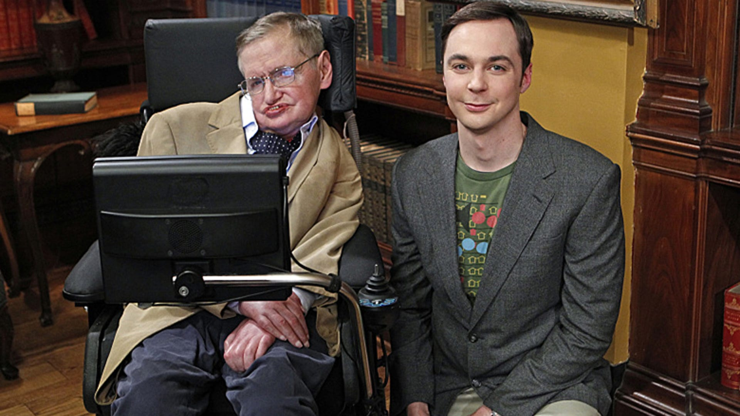 Stephen Hawking and Jim Parsons, The Big Bang Theory