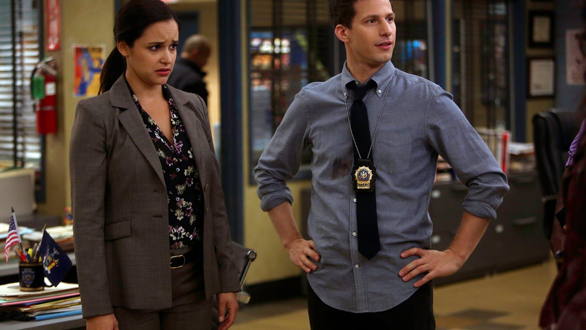 Melissa Fumero and Andy Samberg, Brooklyn Nine-Nine