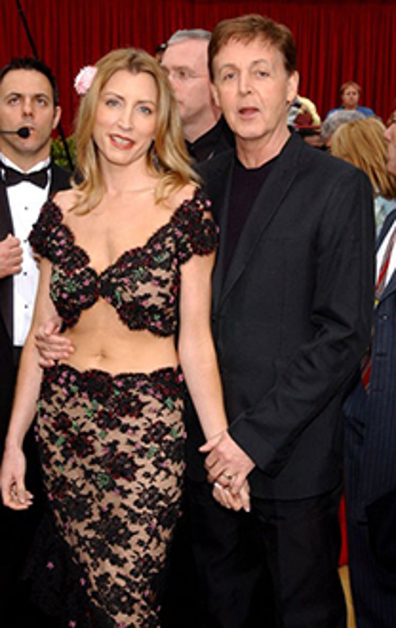 Paul McCartney and Heather Mills - The 74th Annual Academy Awards, March 24, 2002