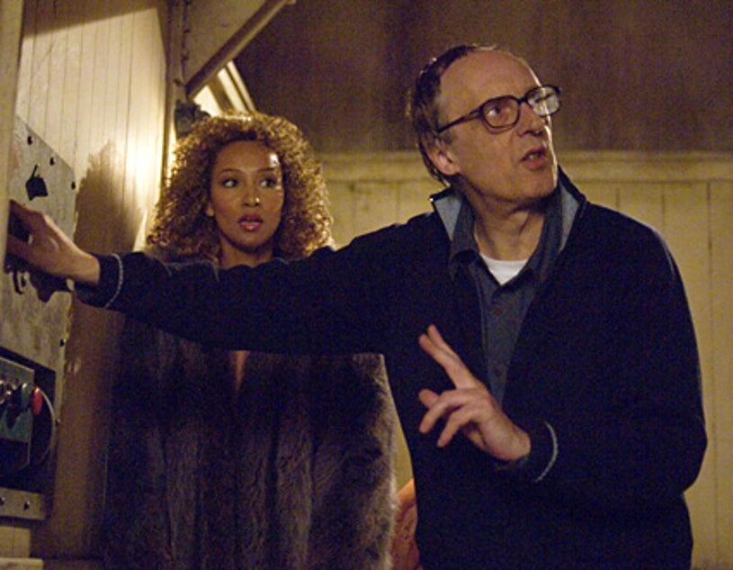 """Masters of Horror - """"Pelts"""" - Ellen Ewuise as Shanna with director, Dario Argento"""