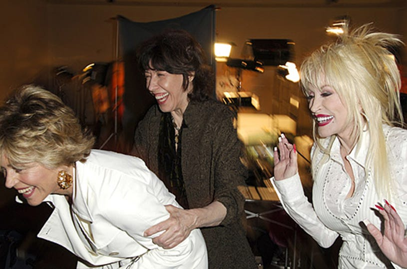 """Jane Fonda, Lily Tomlin and Dolly Parton - """"9 to 5"""" 25th Anniversary Special Edition DVD Launch Party - 2006"""