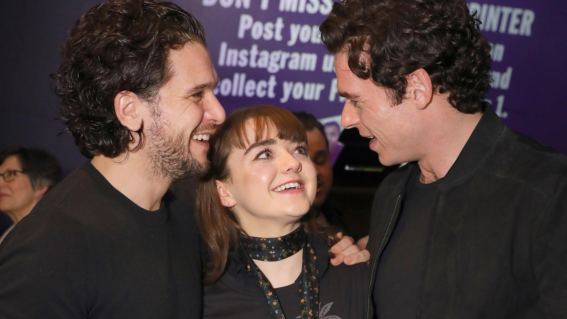 Kit Harington, Maisie Williams and Richard Madden