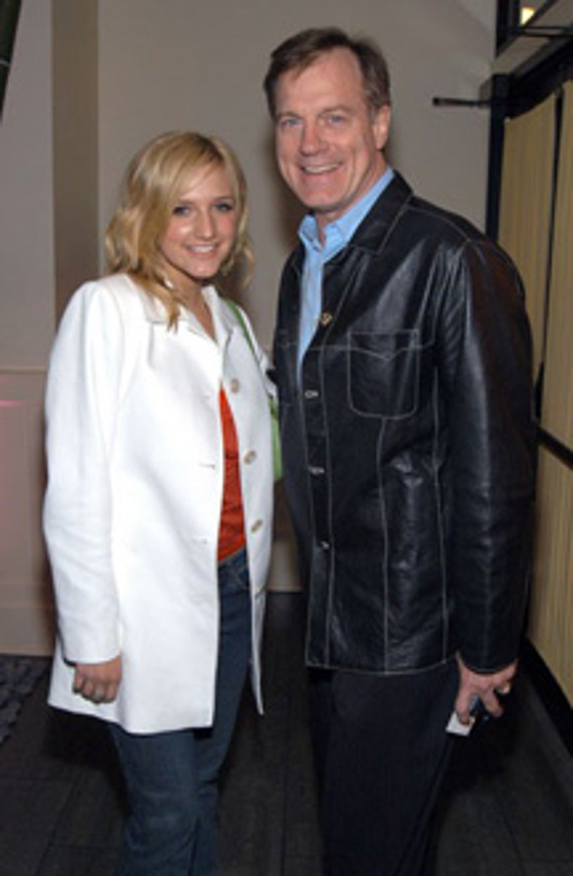 """Ashlee Simpson and Stephen Collins - WB """"UpFront""""  after party, May  2003"""