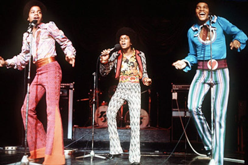 The Jackson Five - performing in London, 1974