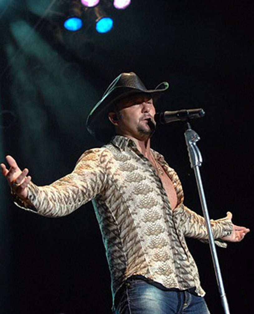 Tim McGraw - performs at the first annual Big State Music Festival held at Texas World Speedway, October 14,  2007