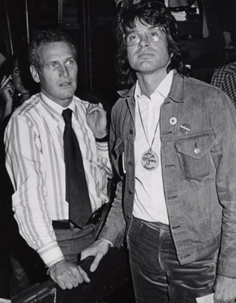 """Paul Newman and Warren Beatty - The """"Stars for McGovern"""" benefit fundraiser in New York City, June 14, 1972"""