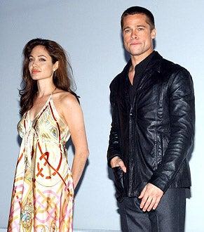 Angelina Jolie and Brad Pitt - ShoWest 2005 20th Century Fox Luncheon in Las Vegas, March 17, 2005