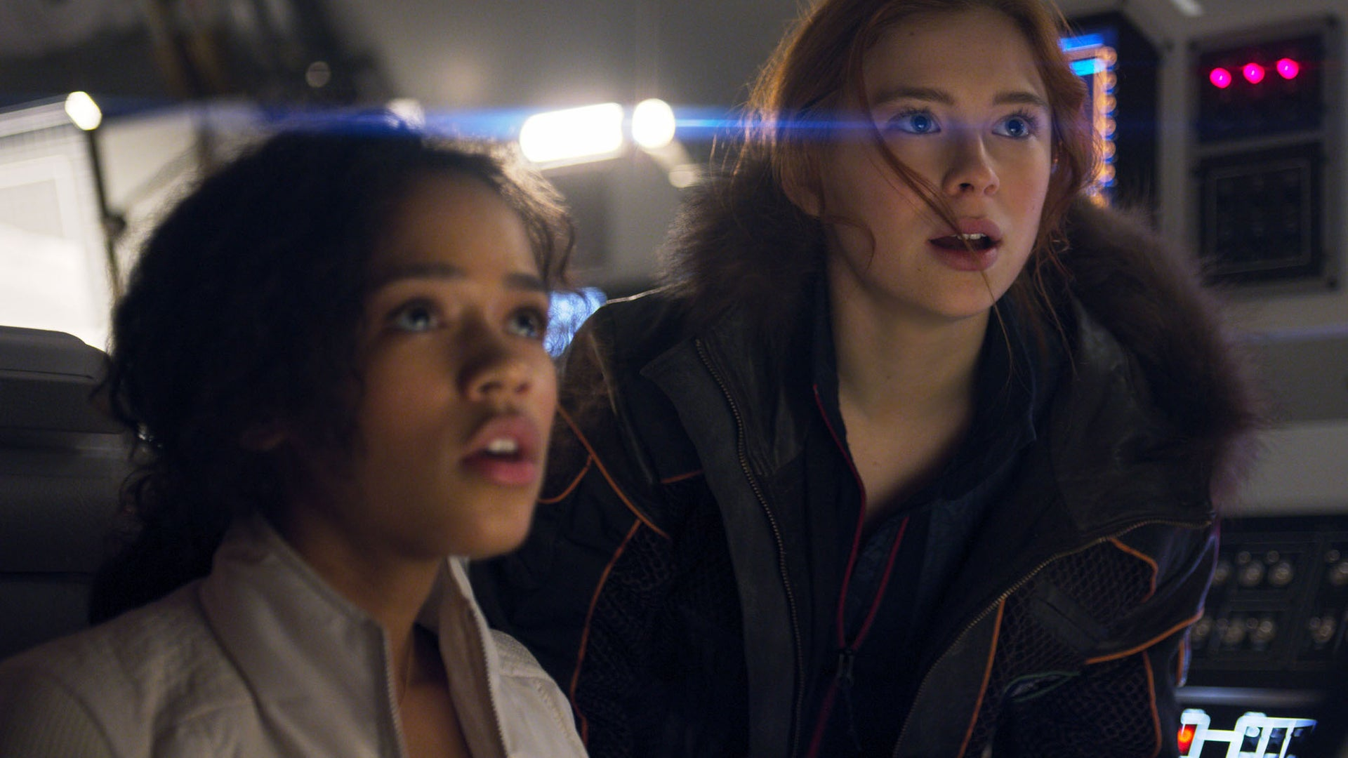 Taylor Russell, Mina Sundwall; Lost in Space