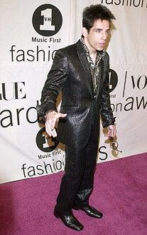 Ben Stiller - VH1/Vogue Fashion Awards at Madison Square Garden in New York City, October 20, 2000