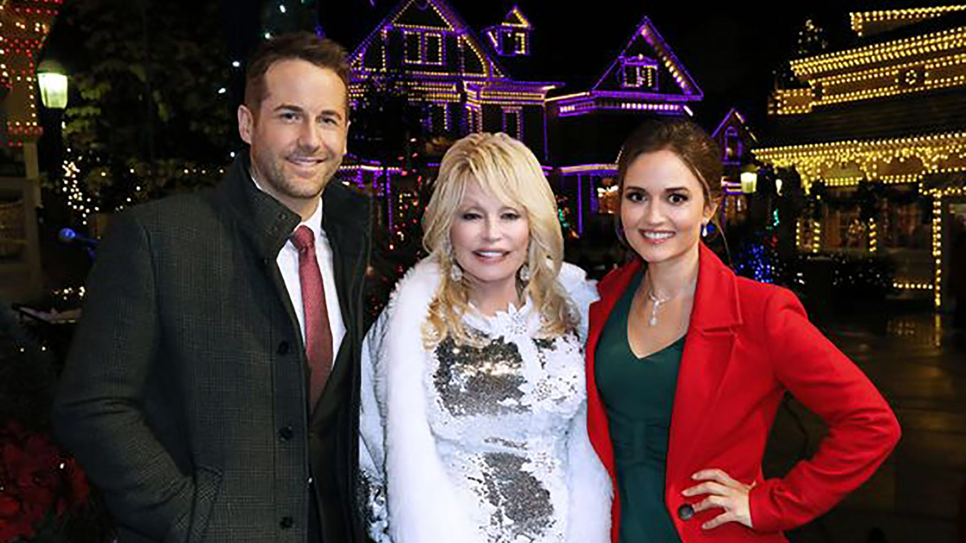 Niall Matter, Dolly Parton, and Danica McKellar, Christmas in Dollywood