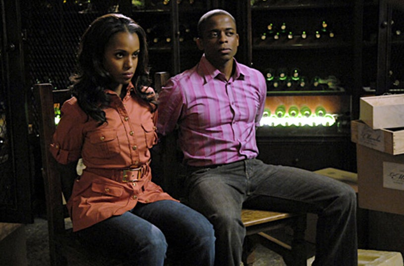 """PSYCH - """"There's Something About Mira"""" - Kerry Washington as Mira, Dule Hil as Burton """"Gus"""" Guster"""