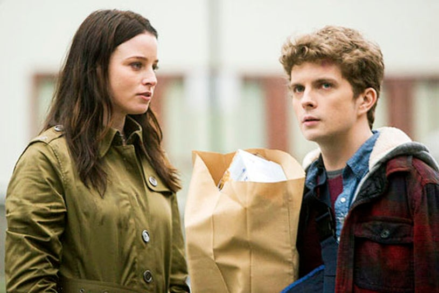 "Continuum - Season 2 - ""Split Second"" - Rachel Nichols and Erick Knudsen"
