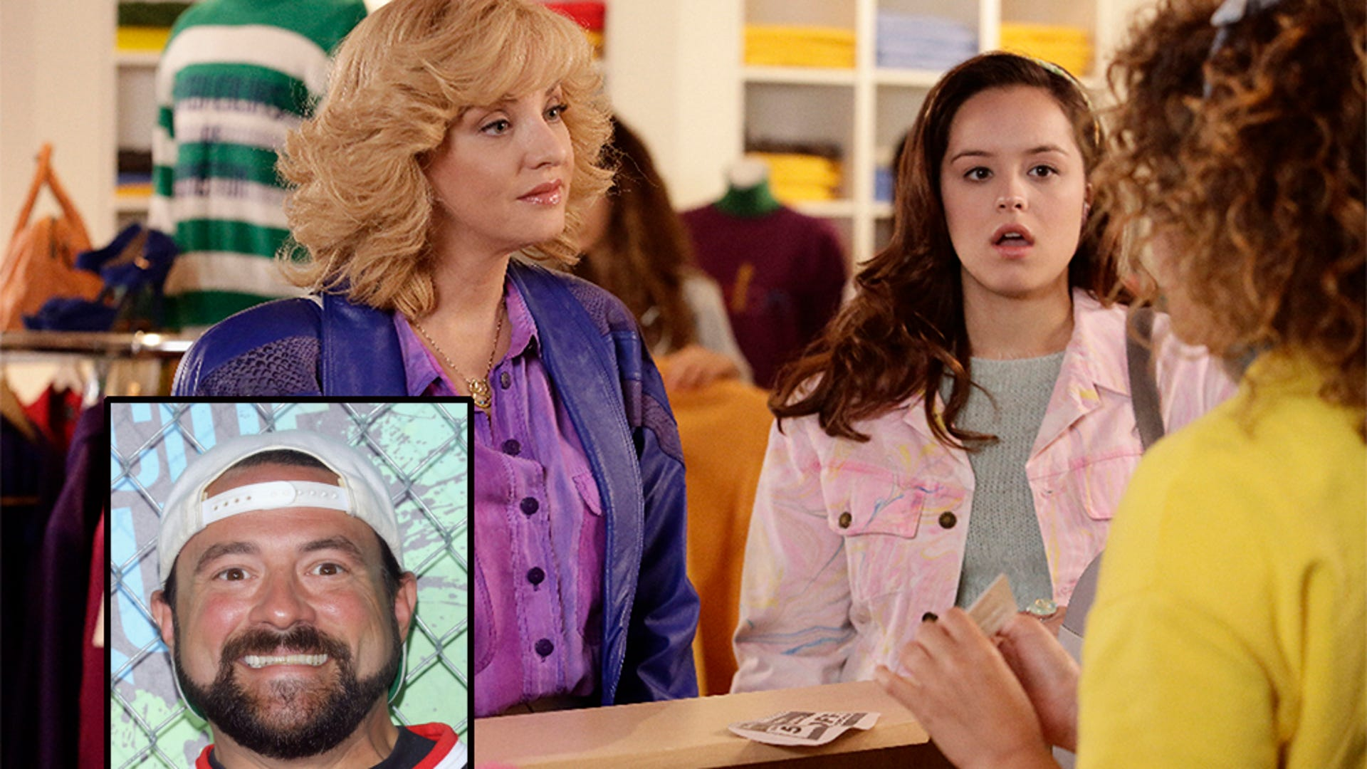 Kevin Smith (inset); The Goldbergs