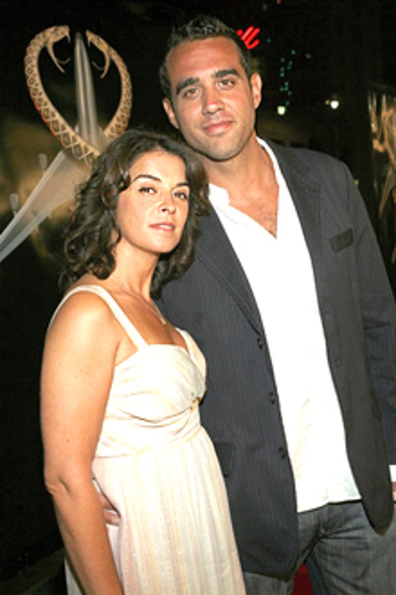 """Annabella Sciorra and Bobby Cannavale - """"Snakes on a Plane"""" Los Angeles premiere, August 17, 2006"""