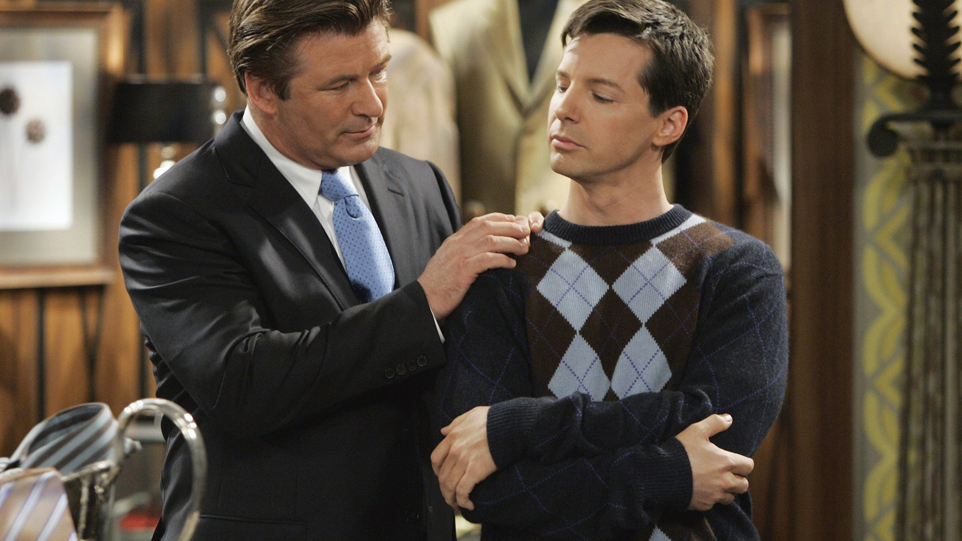 Alec Baldwin and Sean Hayes, Will & Grace
