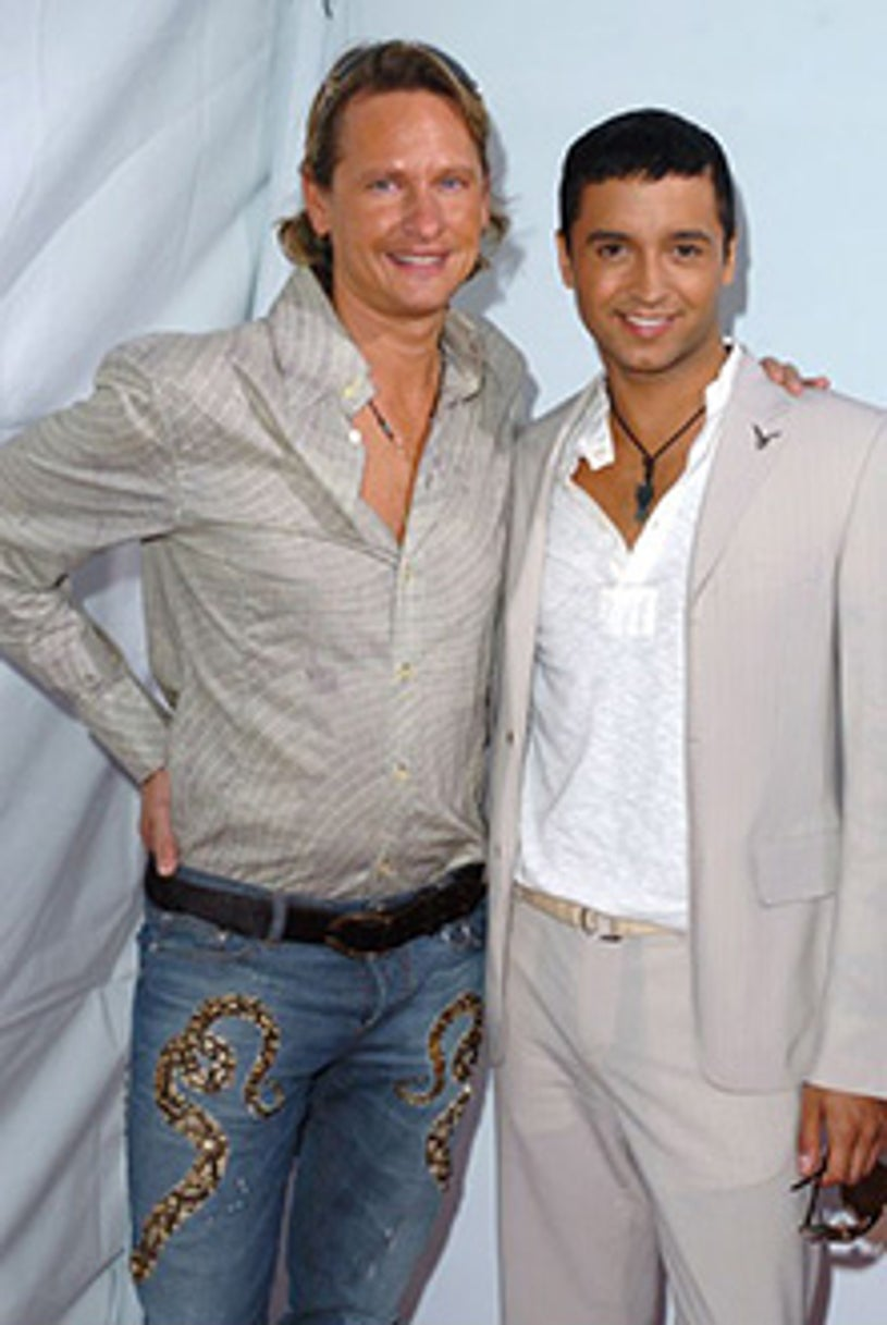 """Carson Kressley and Jai Rodriguez - """"Monster-In-Law"""" premiere, April 2005"""