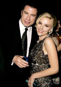 "John Travolta and Scarlett Johansson - The 2004 Venice Film Festival, ""A Love Song For Bobby Long"" premiere party, September 2, 2004"