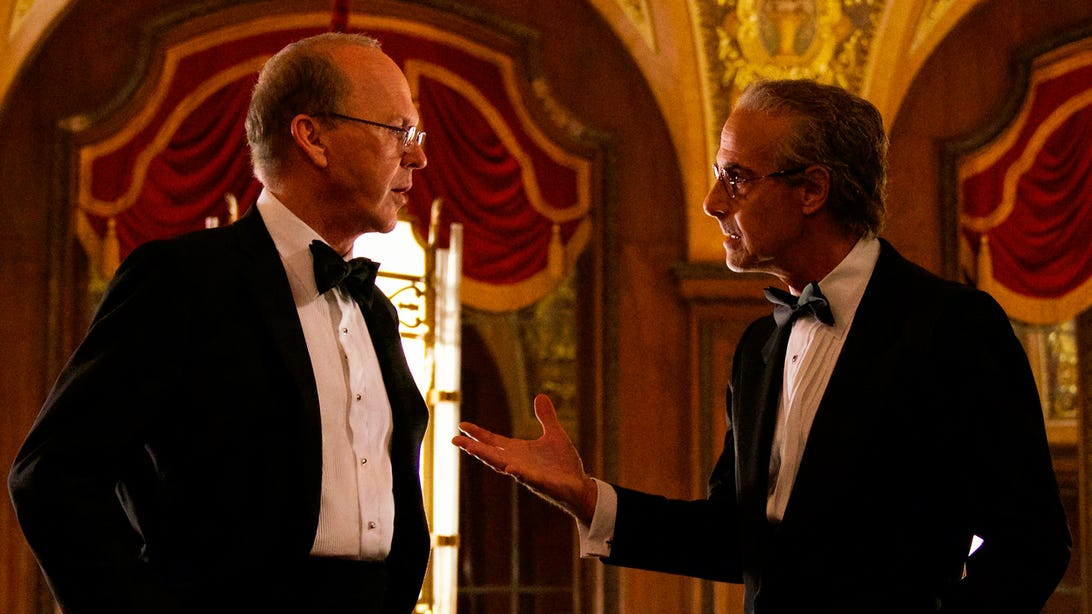 Michael Keaton and Stanley Tucci, Worth