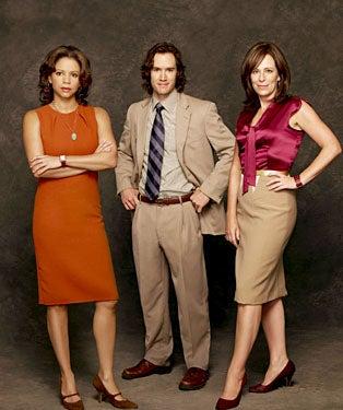 Raising the Bar - Season 1 - Gloria Reuben as Rosalind Whitman, Mark-Paul Gosselaar as Jerry Kellerman, Jane Kaczmarek as Trudy Kessler