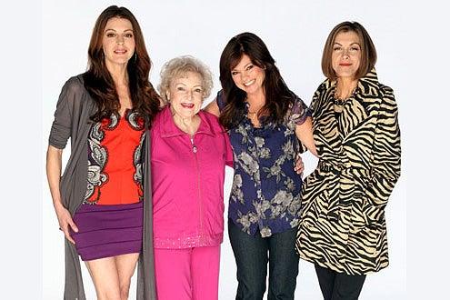Hot in Cleveland - Season 1 - Jane Leeves as Joy, Betty White as Elka, Valerie Bertinelli as Melanie and Wendy Malick as Victoria