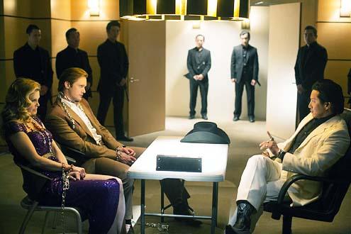 "True Blood - Season 7 - ""Karma"" - Kristin Bauer van Straten, Alexander Skarsgard and Will Yun Lee"