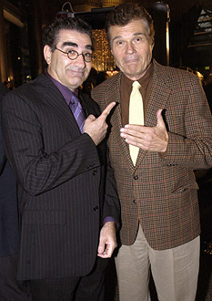 """Eugene Levy and Fred Willard - """"A Mighty Wind"""" Los Angeles Premiere - 2003"""