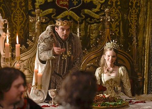 The Tudors - Season 4 - Jonathan Rhys Meyers as Henry VIII and Tamzin Merchant as Katherine Howard