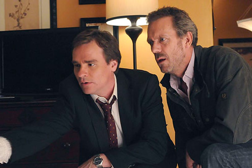 "House - Season 7 - ""Unplanned Parenthood"" - Robert Sean Leonard and Hugh Laurie"