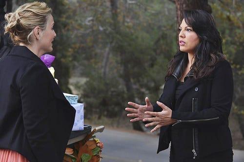 """Grey's Anatomy - Season 10 - """"Take It Back"""" - Jessica Capshaw, Sara Ramirez"""