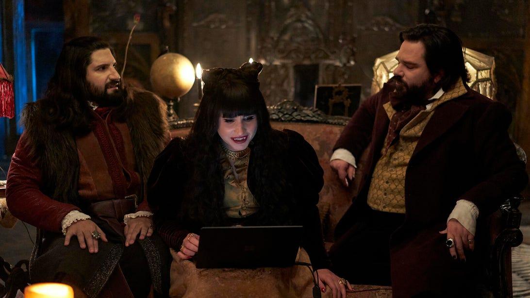 Kayvan Novak, Natasia Demetriou, and Matt Berry, What We Do in the Shadows