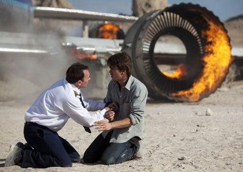 "The Event - Season 1 - ""To Keep Us Safe"" - Scott Patterson as Mark Buchanan and Jason Ritter as Sean Walker"