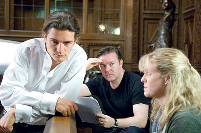 Extras - Orlando Bloom, Ricky Gervais and Ashley Jensen