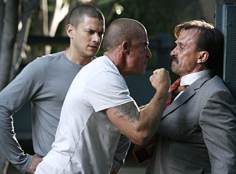"""Prison Break - Season 4, """"Eagles and Angels"""" - Wentworth Miller as Michael, Dominic Purcell as Lincoln, Robert Knepper as T-Bag"""