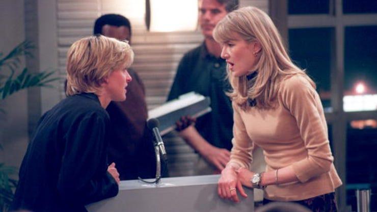 Ellen DeGeneres and Laura Dern, Ellen