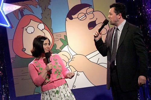 "Alex Borstein and Seth MacFarlane - ""Jimmy Kimmel Live"" show"
