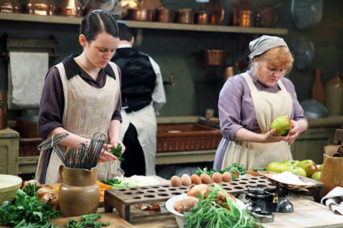 Downton Abbey - Season 3 - Sophie McShera and Lesley Nicol